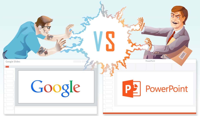 pojedynek na slajdy powerpoint vs google slides