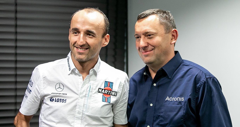 Robert Kubica i Artur Cyganek