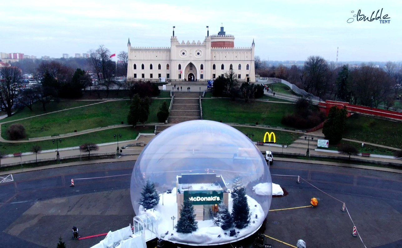 giant bubble tent logo