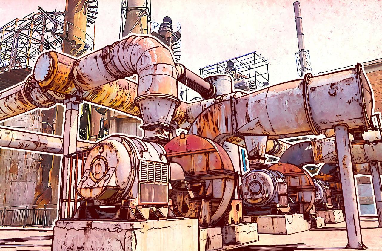 przemysł, fabryka