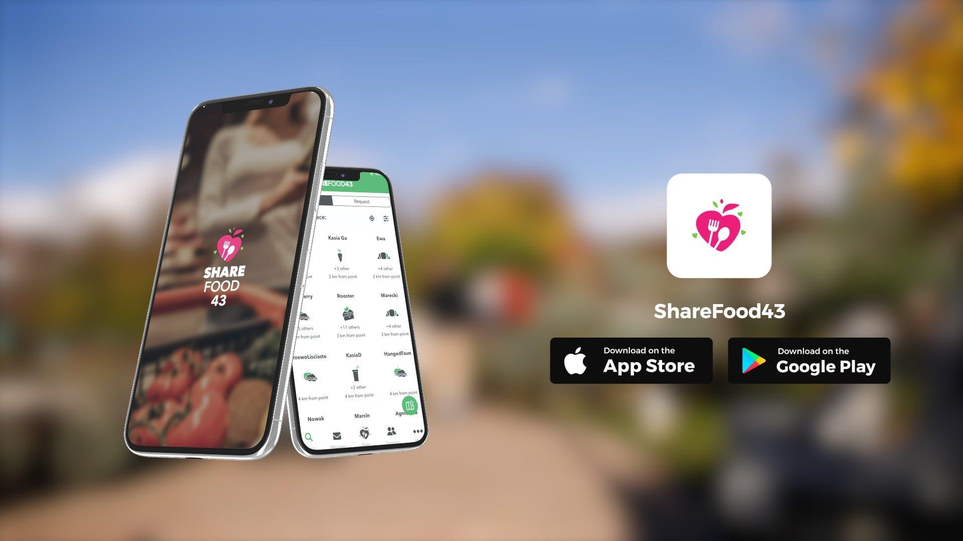 ShareFood43, aplikacja, jedzenie