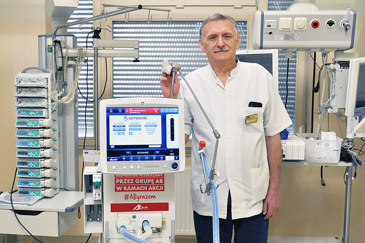 AB, respirator, prof. Waldemar Goździk
