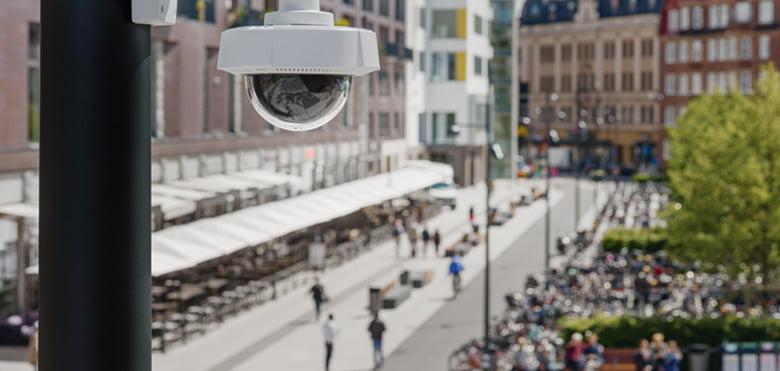 monitoring, obiektyw, ochrona, kamera, ulica, cyberzagrożenia