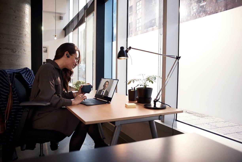 praca, home office, microsoft